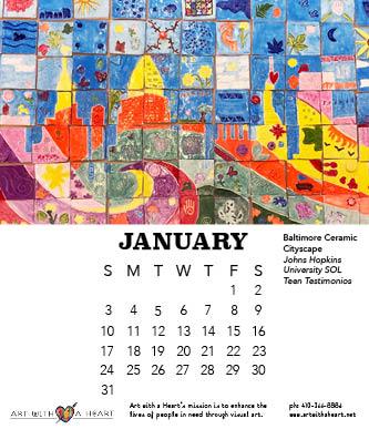 2021 Desk Calendar - January Page