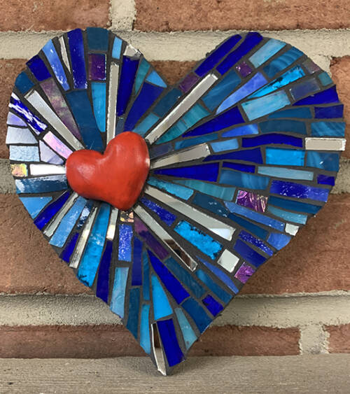 Mosaic Heart Workshop with Kit
