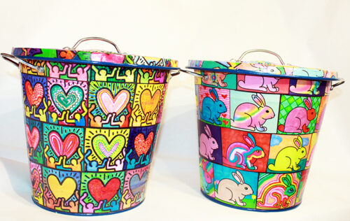 Pop Art Trash Cans