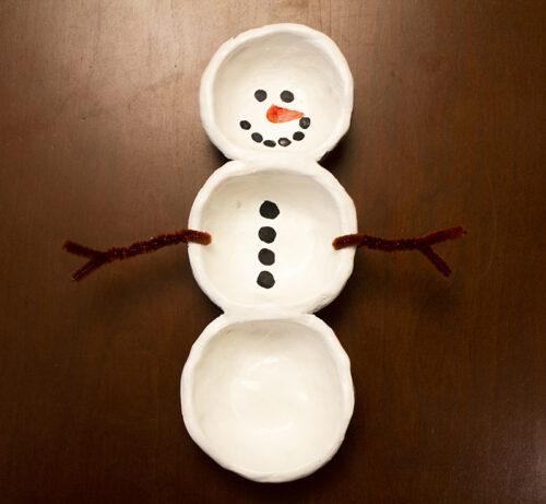 Pinch Pot Snow Person Kit