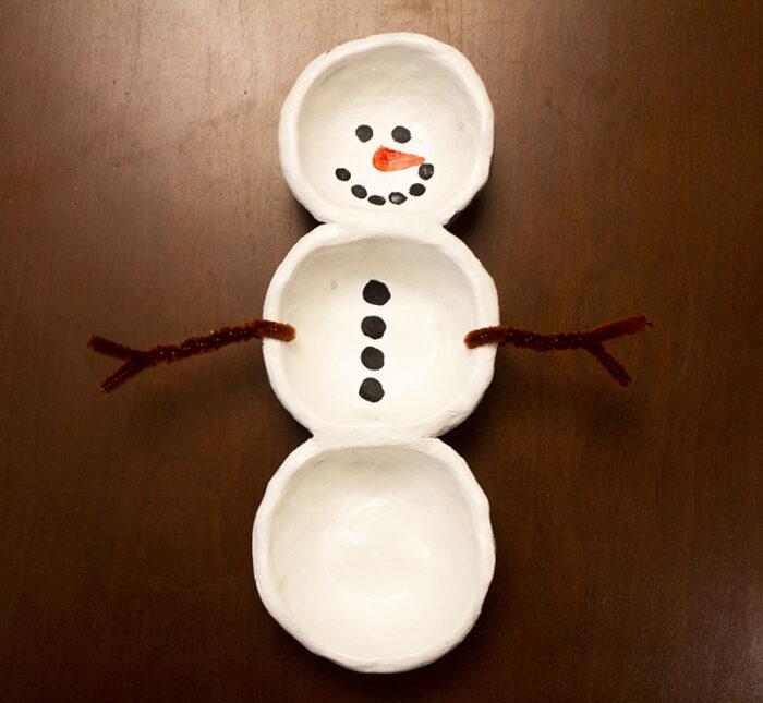 Pinch Pot Snow Person Kit