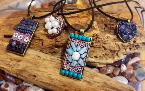Beaded and Mosaic Pendants