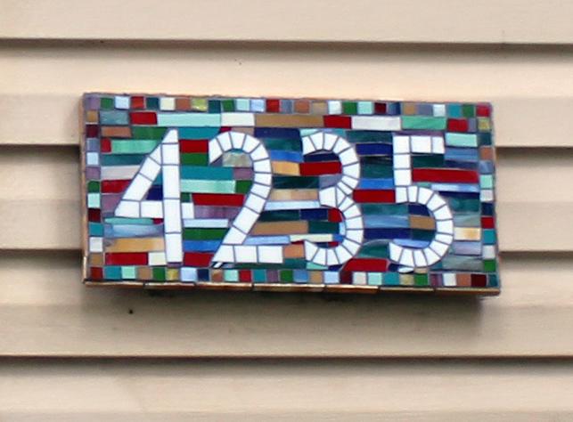 Custom Mosaic House Number